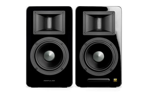 Large image of Edifier Airpulse A100 Black Hi-Res Audio Bluetooth Bookshelf Speakers (Pair) - APA100BK
