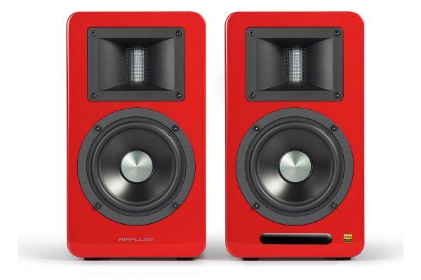 Large image of Edifier Airpulse A100 Red Hi-Res Audio Bluetooth Bookshelf Speakers (Pair) - APA100RD
