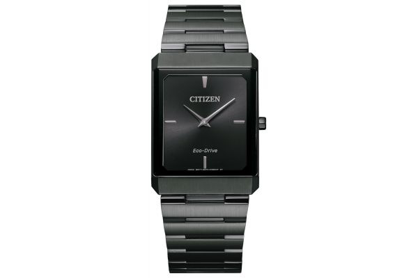 Large image of Citizen Eco-Drive Stiletto Black Unisex Watch - AR310757E