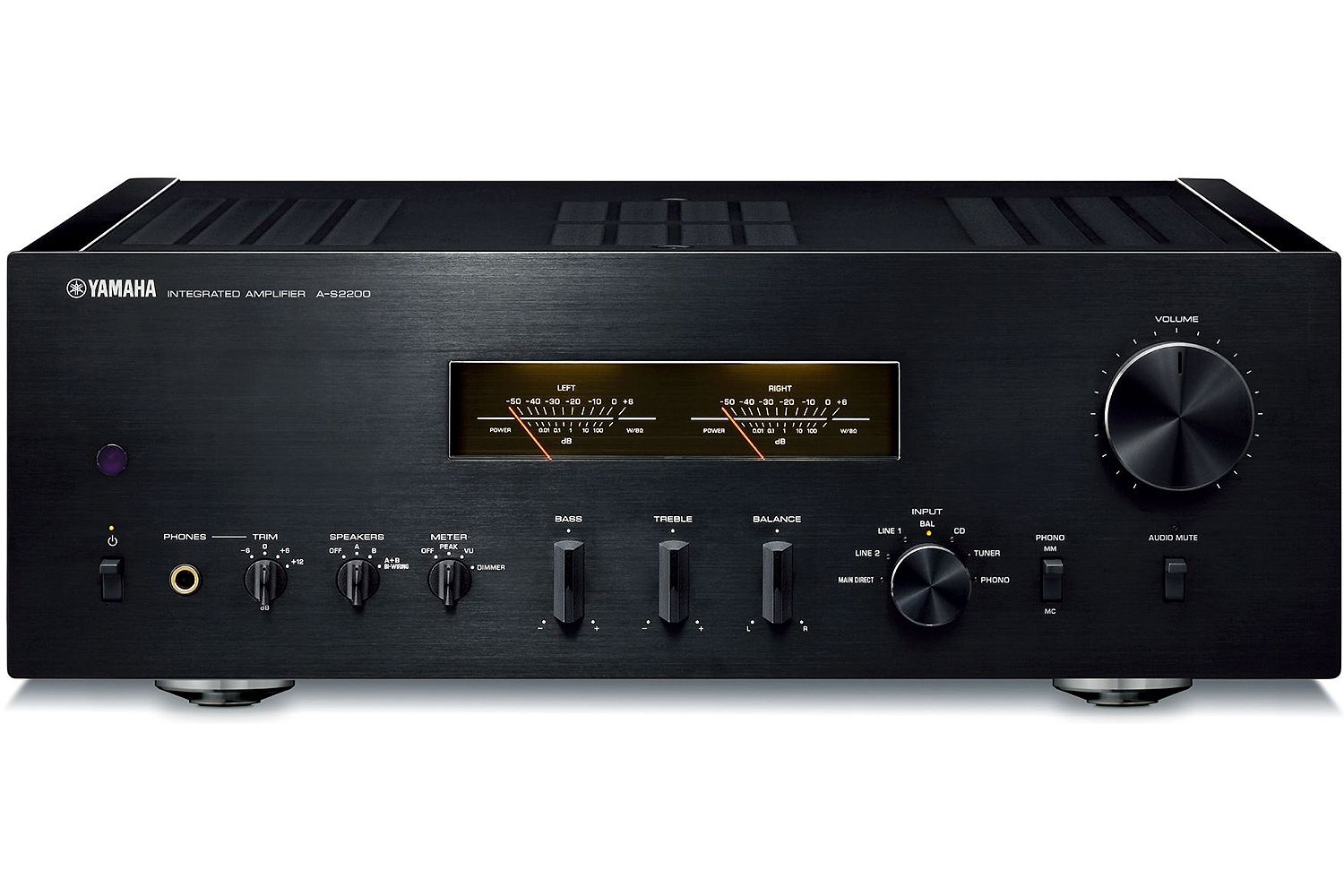 Yamaha Piano Black Integrated Amplifier - A-S2200BL