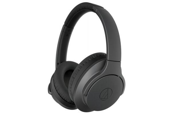 Audio-Technica Black QuietPoint Wireless Active Over-Ear Noise-Cancelling Headphones - ATH-ANC700BTBK