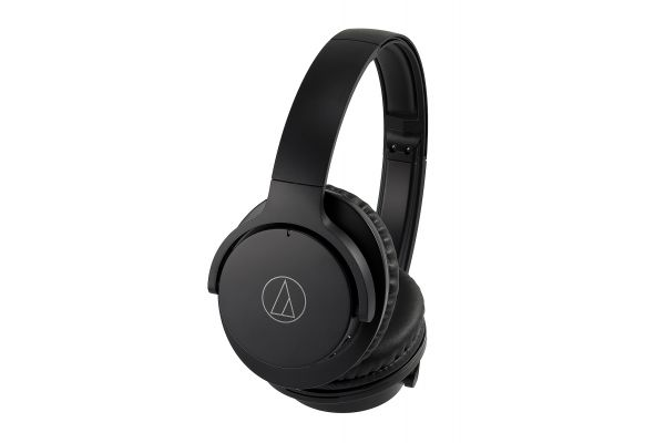 Audio-Technica Black QuietPoint Wireless Active Noise-Cancelling Over-Ear Headphones - ATH-ANC500BTBK