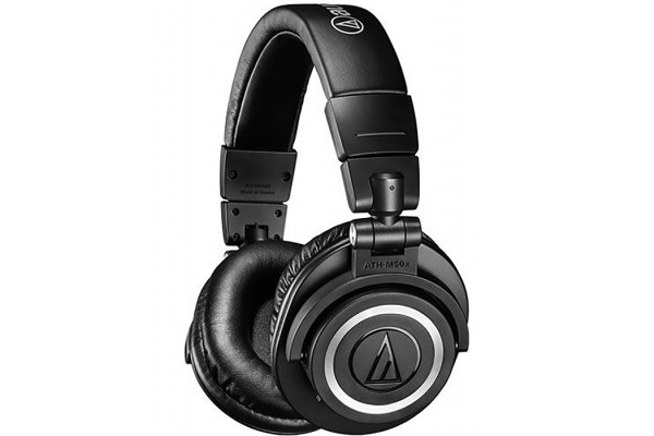 Large image of Audio-Technica Black Wireless Over-Ear Headphones - ATH-M50XBT