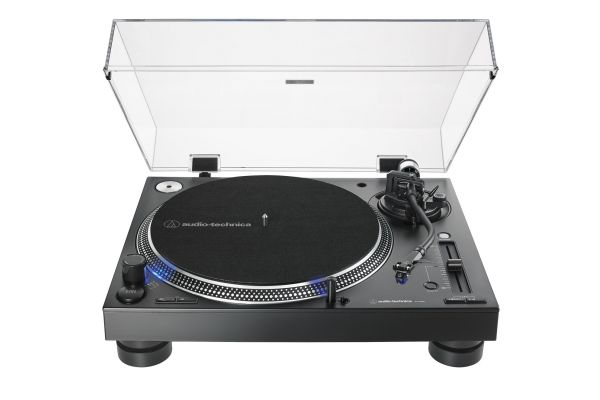 Large image of Audio-Technica Black Direct-Drive Professional DJ Turntable - AT-LP140XP-BK