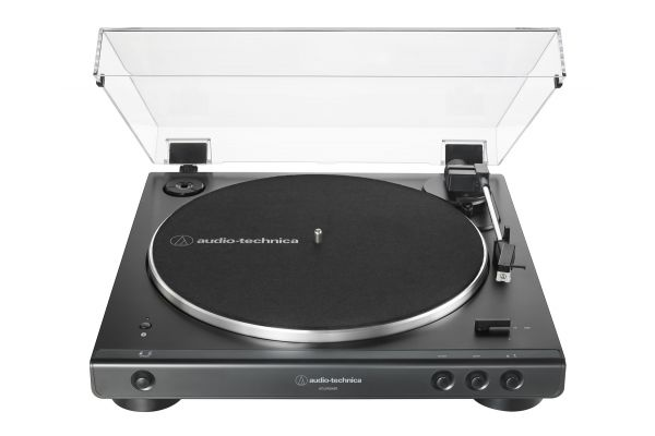 Large image of Audio-Technica Black Fully Automatic Belt-Drive Stereo Turntable - AT-LP60XBT-BK