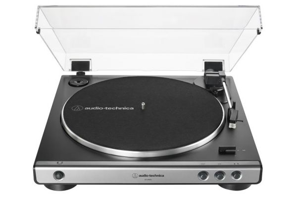 Large image of Audio-Technica Gun Metal Fully Automatic Belt-Drive Turntable - AT-LP60X-GM