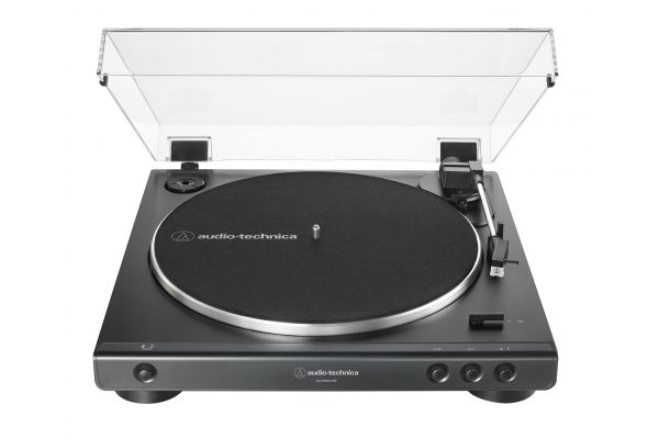 Large image of Audio-Technica Black Fully Automatic Belt-Drive Stereo Turntable - AT-LP60XUSB-BK