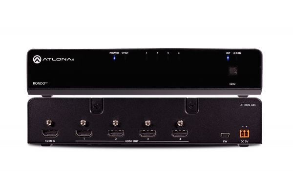 Large image of Atlona Four-Output HDMI Distribution Amplifier - AT-RON-444