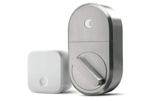 Large image of August Satin Nickel Smart Lock + Connect - AUGSL04C03N04