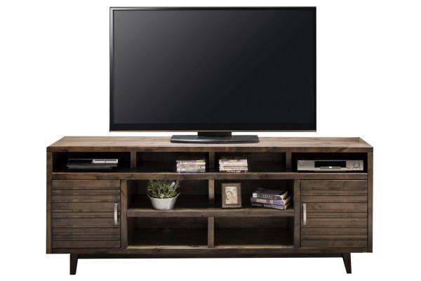 "Large image of Legends Furniture 84"" Charcoal Avondale TV Console - AV1335-CHR"