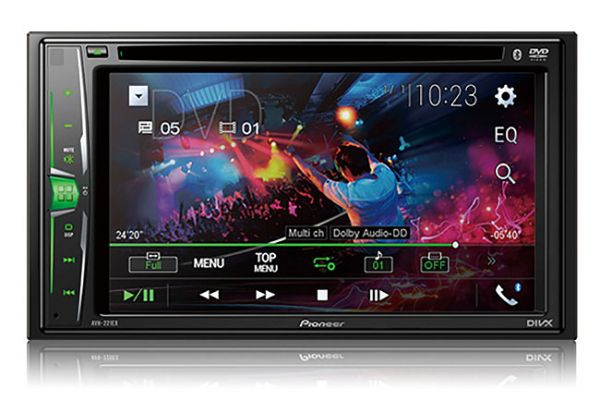 """Large image of Pioneer Multimedia DVD Receiver With 6.2"""" WVGA Clear Resistive Display - AVH-221EX"""