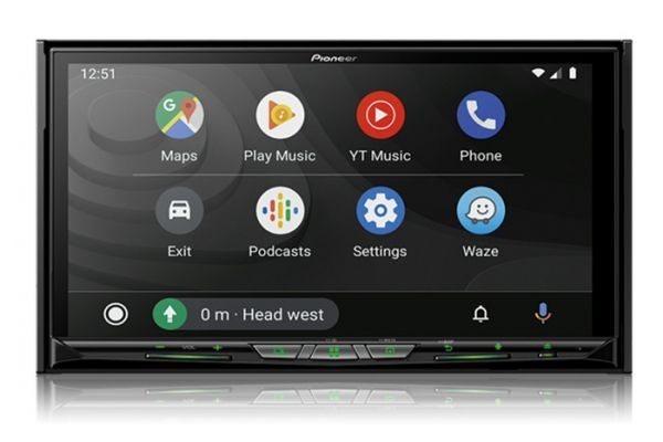 """Large image of Pioneer Black In-Dash Navigation AV Receiver with 7"""" WVGA Capacitive Touchscreen Display - AVIC-W8600NEX"""
