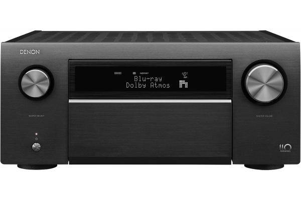 Large image of Denon 110-Year Anniversary Edition Silver Graphite 13.2 Channel 8K AV Receiver - AVR-A110