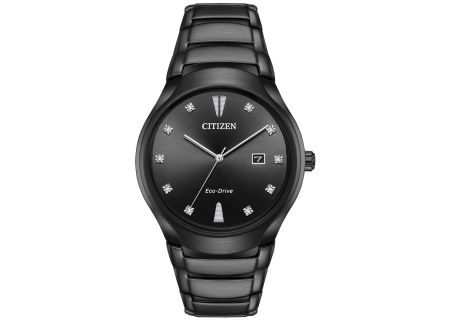 Citizen Eco-Drive Paradigm Black Mens Watch - AW1555-56G