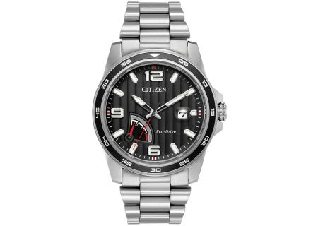 Citizen Eco-Drive PRT Stainless Steel Mens Watch - AW7030-57E