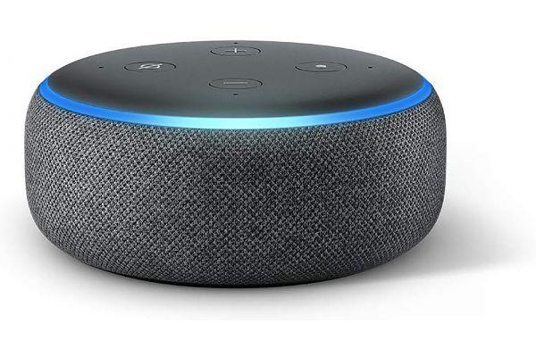 Large image of Amazon Charcoal Echo Dot 3rd Generation Smart Speaker - B07FZ8S74R