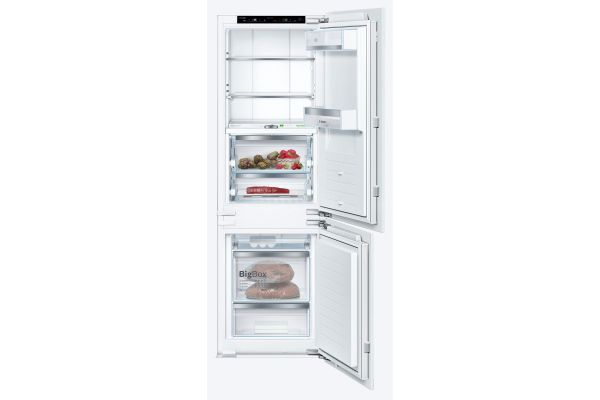 "Large image of Bosch 800 Series 24"" Custom Panel Built-In Bottom Freezer Refrigerator - B09IB91NSP"