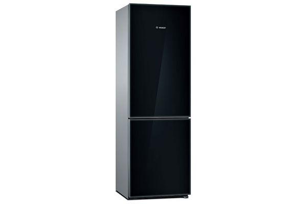 "Large image of Bosch 800 Series 24"" Black Counter-Depth Bottom-Freezer Refrigerator - B10CB81NVBK"