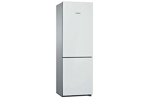 "Large image of Bosch 800 Series 24"" White Counter-Depth Bottom-Freezer Refrigerator - B10CB81NVWH"