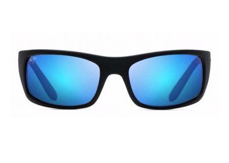 Maui Jim Peahi Matte Black Blue Hawaii Unisex Sunglasses - B202-2M