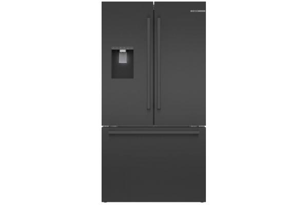 "Large image of Bosch 500 Series 36"" Black Stainless Steel Counter-Depth 3-Door Refrigerator - B36CD50SNB"