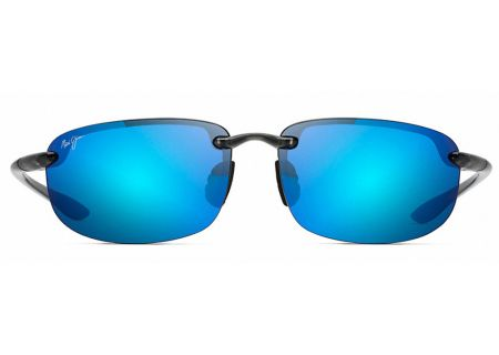 Maui Jim Hookipa Smoke Grey Blue Hawaii Unisex Sunglasses - B407-11