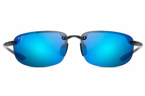Large image of Maui Jim Hookipa Smoke Grey Blue Hawaii Unisex Sunglasses - B407-11