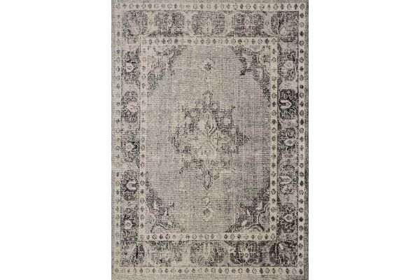 "Large image of Kalora Sara 5'3"" X 7'7"" Grey Black Elaborate Edging Indoor/Outdoor Rug - B408/0939 160230"
