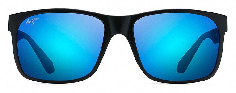 d91c92749a7e Maui Jim Red Sands Matte Black Blue Hawaii Unisex Sunglasses - B432-2M