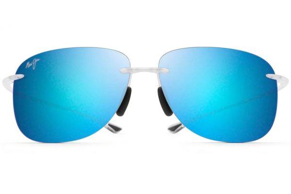 Large image of Maui Jim Hikina Crystal Matte Unisex Sunglasses - B445-05CM