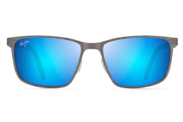 Large image of Maui Jim Blue Hawaii Cut Mountain Polarized Rectangular Sunglasses - B53214
