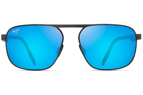 Large image of Maui Jim Blue Hawaii Waihe'e Ridge Polarized Aviator Sunglasses - B777-02C
