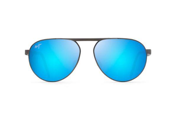 Large image of Maui Jim Blue Hawaii Swinging Bridges Polarized Aviator Sunglasses - B78702C