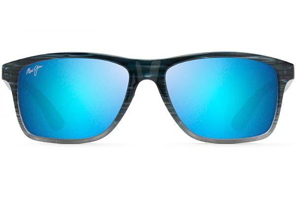Large image of Maui Jim Onshore Blue Black Stripe Fade Mens Sunglasses - B798-03S