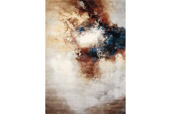 """Large image of Kalora Sidra 2'0"""" X 3'7"""" Cream Orange Foggy Wisps Soft Touch Rug - B859/2424 60110"""