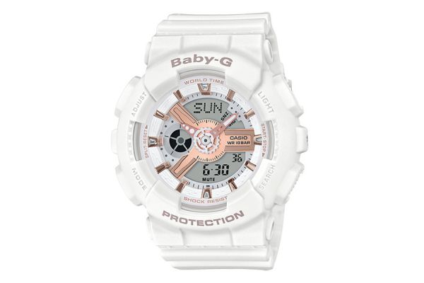 Large image of G-Shock Baby-G White Running Series Womens Watch - BA110RG-7A