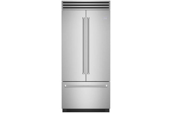 """Large image of BlueStar 36"""" PRO Stainless Steel Built-In French Door Refrigerator - BBBF361"""