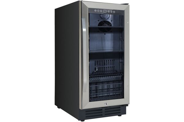 """Large image of Avanti 15"""" Stainless Frame Deluxe Beverage Center - BCA3115S3S"""