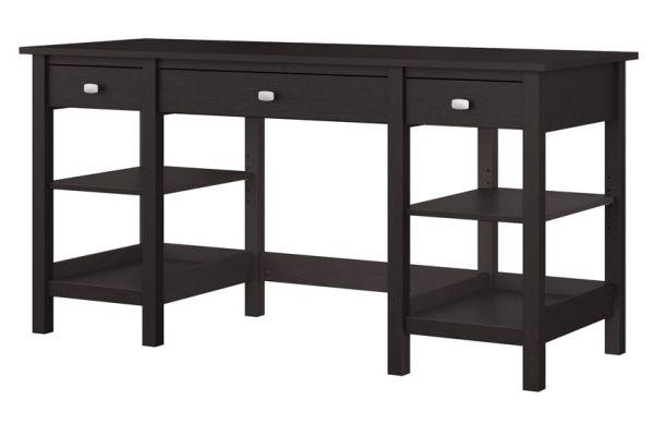 """Bush Furniture Espresso Oak Broadview 60"""" Desk - BDD160EO-03"""