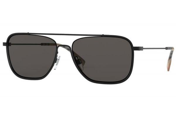 Large image of Burberry Square Matte Black Mens Sunglasses - BE311210078759