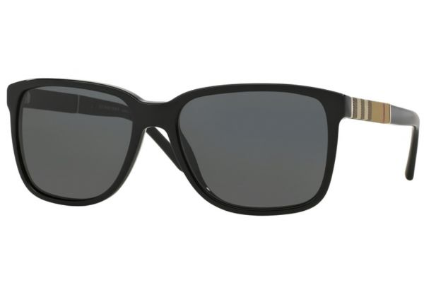 Large image of Burberry Square Black Mens Sunglasses - BE4181300187