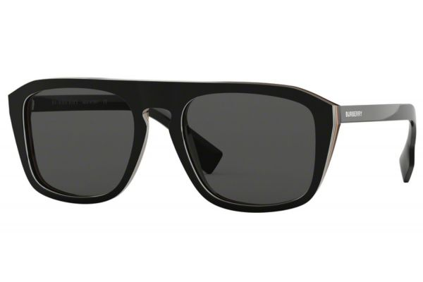 Large image of Burberry Square Check Multilayer Black Mens Sunglasses - BE4286379887