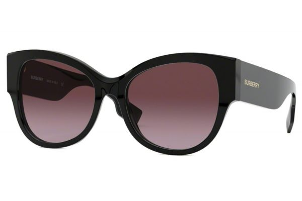 Large image of Burberry Butterfly Shape Black Womens Sunglasses - BE429430018H54