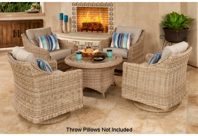 Parrot Island - BER-5CHT-AL-LC - Patio Seating Sets