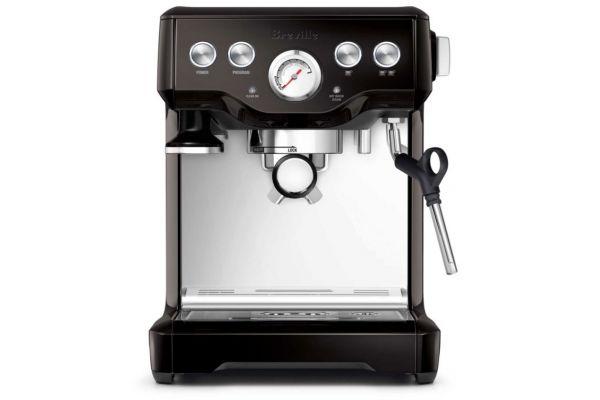 Large image of Breville Black Sesame Infuser Espresso Machine - BES840BSXL