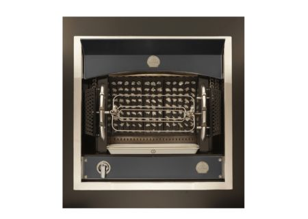 La Cornue Matte Black With Brushed Nickel Trim Flamberge Rotisserie - BFGNN