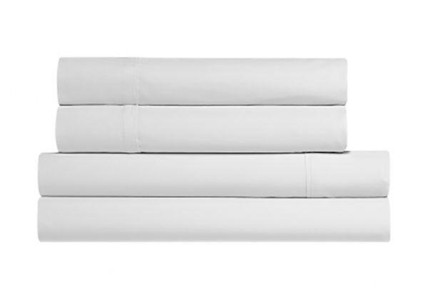 Large image of Bedgear Basic King White Sheet Set - BGS11AMWFK