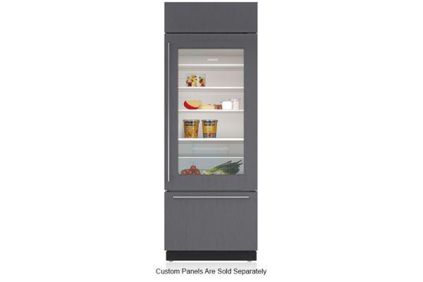 "Large image of Sub-Zero 30"" Panel Ready Right-Hinge Classic Over-And-Under Refrigerator/Freezer With Glass Door - BI-30UG/O-RH"