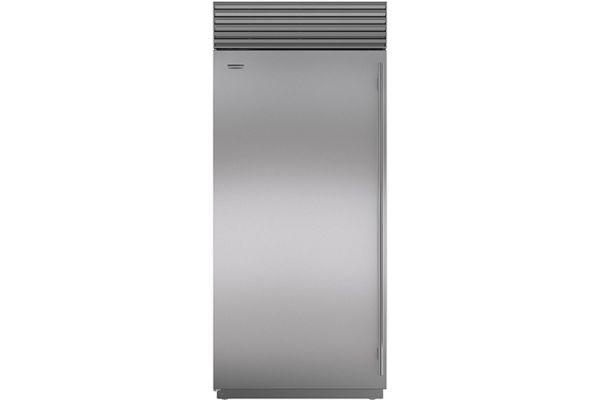 "Large image of Sub-Zero 36"" Stainless Steel Left-Hinge Classic Freezer - BI-36F/S/TH-LH"