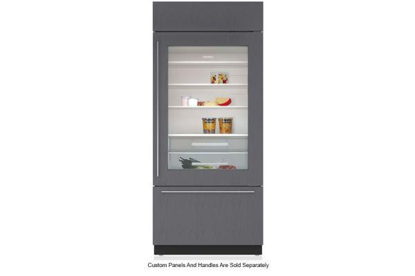 "Large image of Sub-Zero 36"" Panel Ready Right-Hinge Classic Over-And-Under Refrigerator/Freezer With Glass Door - BI-36UG/O-RH"
